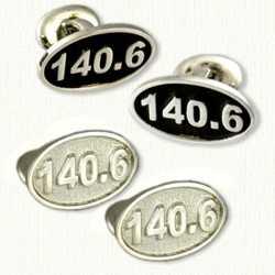 Sterling Silver 140.6 Marathon Cufflinks
