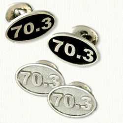 Sterling Silver 70.3 Marathon Cufflinks